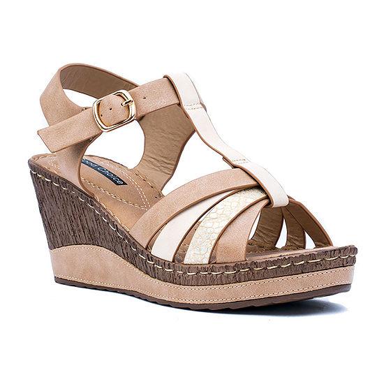 Good Choice By G.C Shoes Womens Dulcie Wedge Sandals