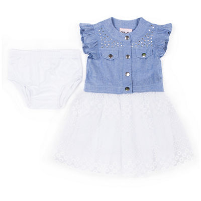Little Lass Short Sleeve Tutu Dress - Baby Girls
