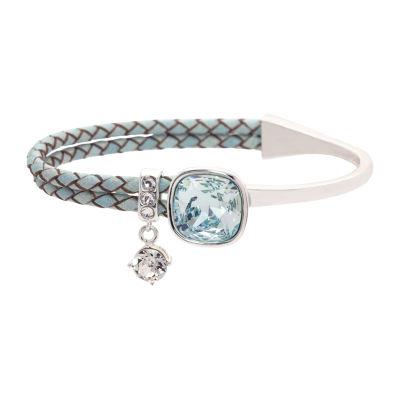 Sparkle Allure Womens Blue Wrap Bracelet