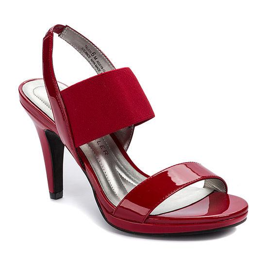 Andrew Geller Womens Talani  Round Toe Cone Heel Pumps