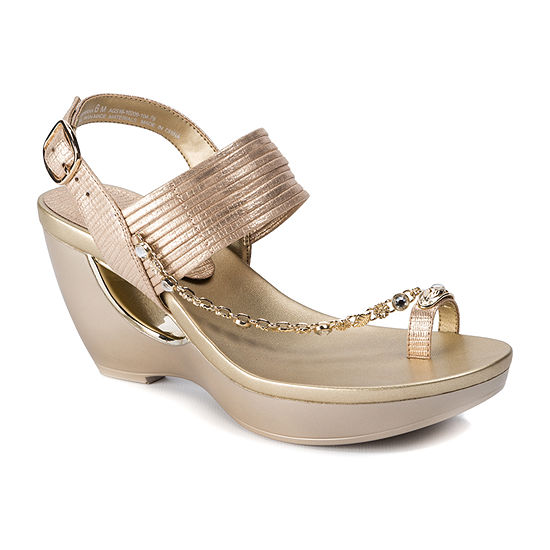 Andrew Geller Womens Ag Arriana Wedge Sandals