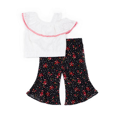 Little Lass 2-pc. Legging Set-Baby Girls