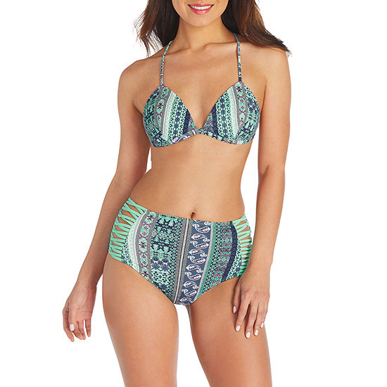 66bf26ad3fe30 Arizona Geo Linear Triangle Swimsuit Top or Swimsuit Bottom-Juniors ...