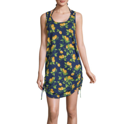 City Streets Striped Slubbed Swimsuit Cover-Up Dress-Juniors