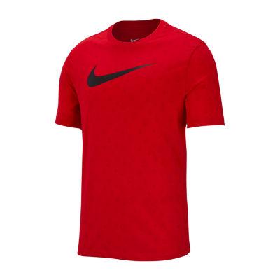 Nike Mens Crew Neck Short Sleeve Raindrop Print