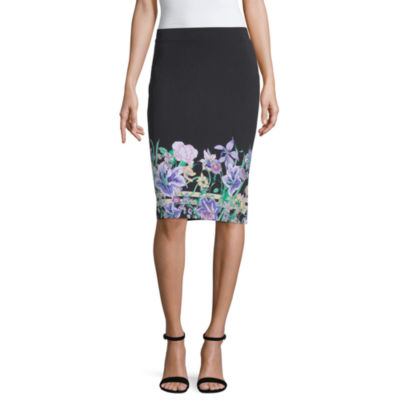 Liz Claiborne Spring Bouquet Womens Pencil Skirt