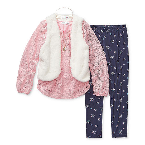 Knit Works Girls 3-pc. Legging Set