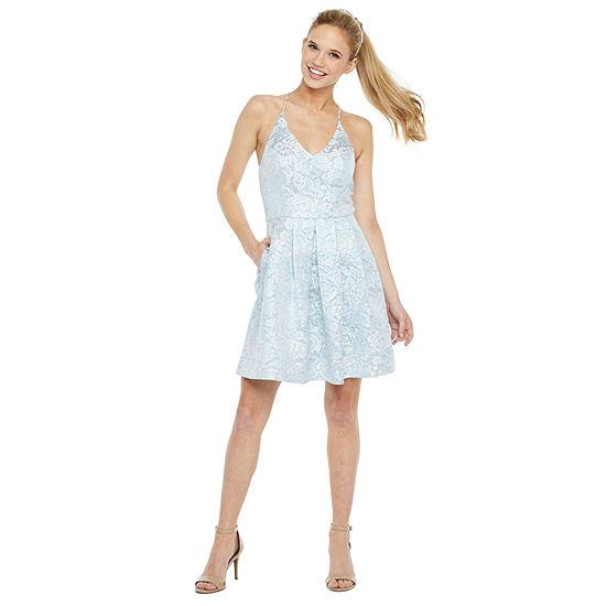 Byer California-Juniors Sleeveless Fit & Flare Dress
