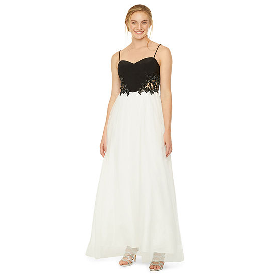 DJ Jaz Sleeveless Applique Ball Gown-Juniors