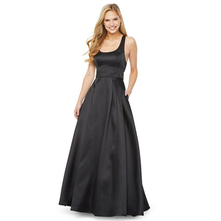 1930s Evening Dresses | Old Hollywood Silver Screen Dresses My Michelle Prom Sleeveless Ball Gown-Juniors $97.99 AT vintagedancer.com