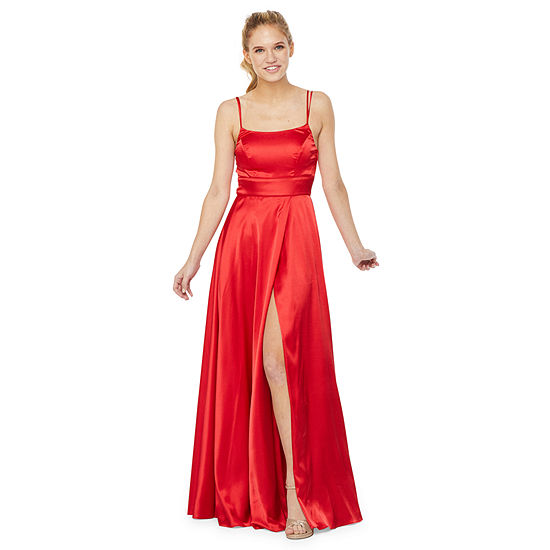 My Michelle Prom Sleeveless A-Line Dress-Juniors