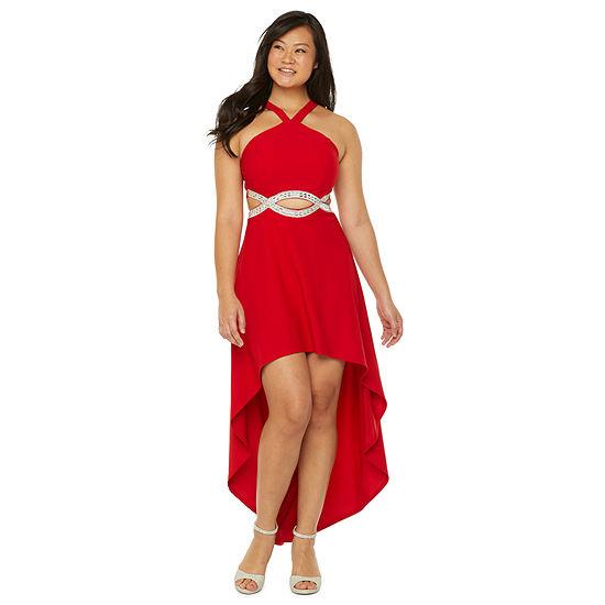 Speechless Sleeveless High-Low Party Dress-Juniors