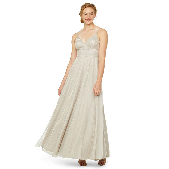 City Triangle Sleeveless Ball Gown-Juniors
