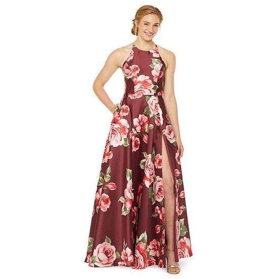 B. Smart Sleeveless Floral A-Line Dress-Juniors