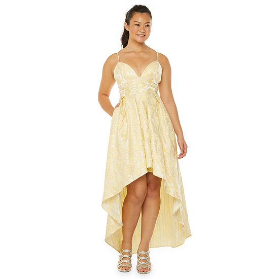 Trixxi Sleeveless High-Low Party Dress-Juniors