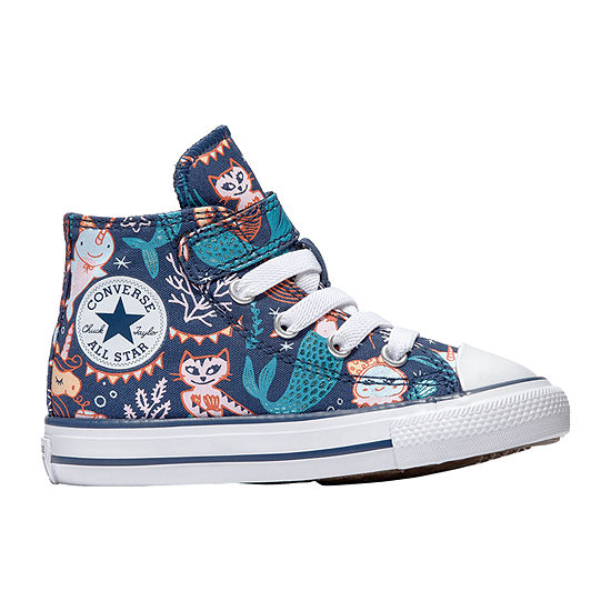 Converse Ctas 1v Hi Underwater Party Toddler Girls Sneakers