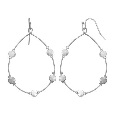 a.n.a Silver Tone Drop Earrings