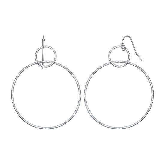 a.n.a  Circle Drop Earrings