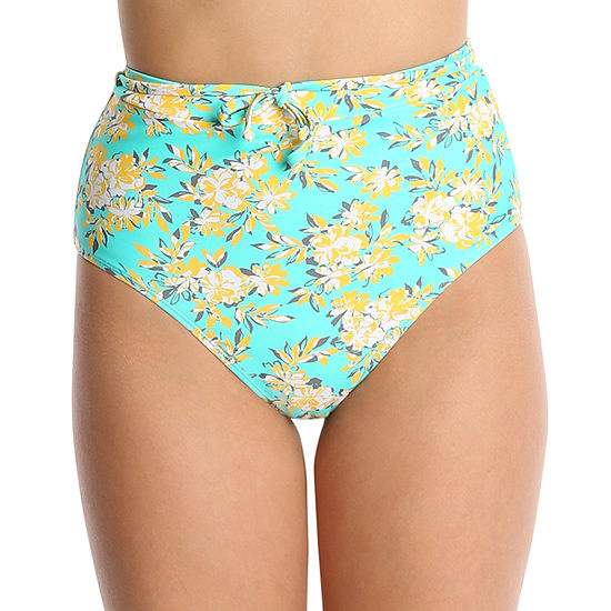 Wallflower Floral Swimsuit Bottom High Waist Juniors