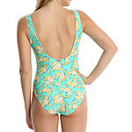 Wallflower Floral One Piece Swimsuit Juniors