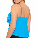 Vanishing Act By Magic Brands Slimming Control Tankini Swimsuit Top