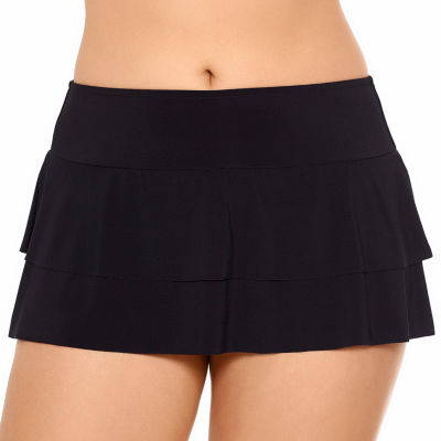 Vanishing Act By Magic Brands Slimming Control Swim Skirt Swimsuit Bottom