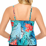 Vanishing Act By Magic Brands Slimming Control Floral Swimsuit Top Tankini