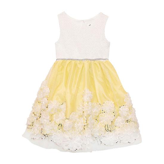 Nannette Baby Toddler Girls Sleeveless Floral A-Line Dress