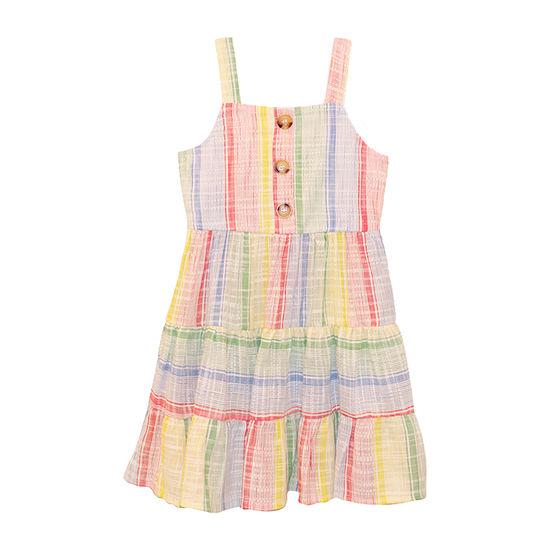 Nannette Baby Toddler Girls Sleeveless Striped A-Line Dress