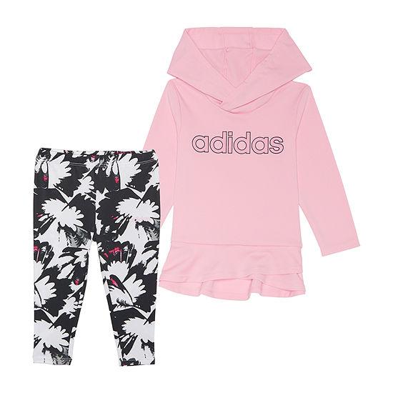 adidas-Little Kid Girls 2-pc. Legging Set