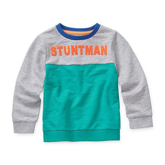 Okie Dokie Boys Crew Neck Long Sleeve Sweatshirt - Preschool