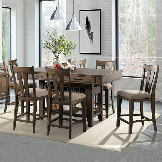 Rustic River 7-Piece Kitchen Island Dining Set