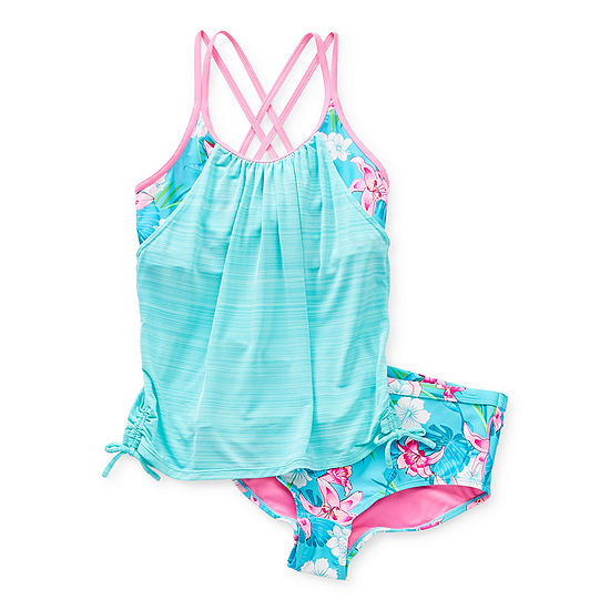Zeroxposur Big Girls Floral Tankini Set