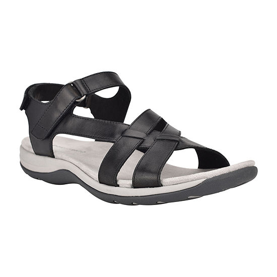 Easy Spirit Womens Silvie Adjustable Strap Flat Sandals
