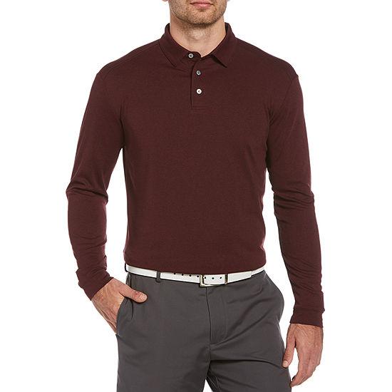 PGA TOUR Big and Tall Mens Long Sleeve Polo Shirt