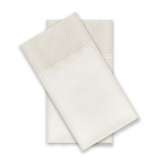 Supreme Elegance Cotton Rich 1000TC Luxury Performance Wrinkle Free 2-Pack Pillowcase