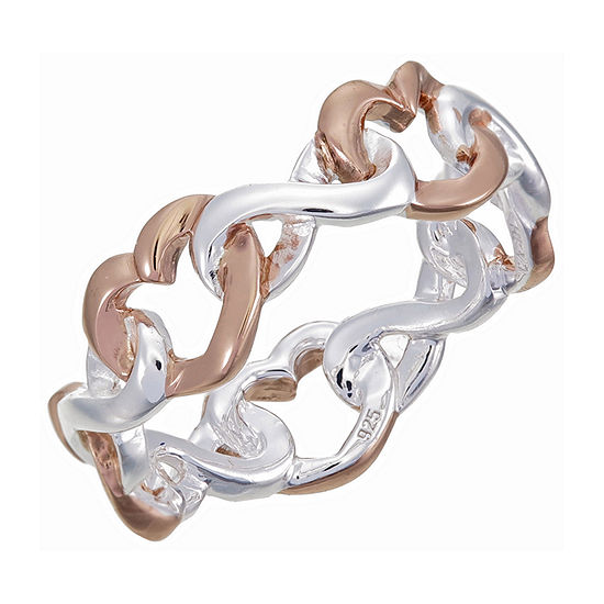 Footnotes Sterling Silver Heart Band