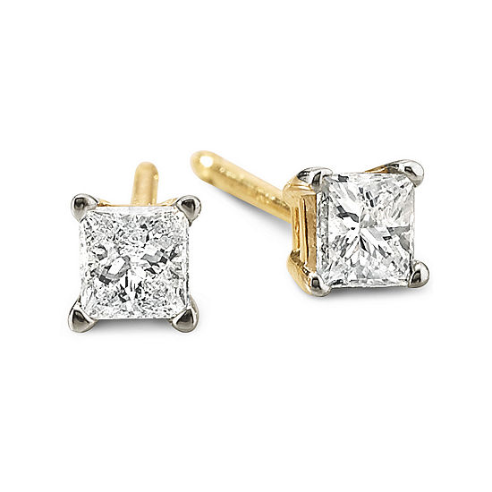 1/4 CT. T.W. Princess Diamond Stud Earrings
