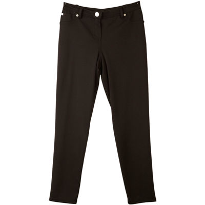 by&by girl Big Girls Skinny Black Ponte Pants