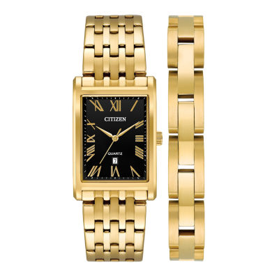 Citizen Mens Gold Tone Watch Boxed Set-Bh3002-62e
