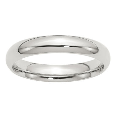 Personalized Mens 4mm Sterling Silver Band