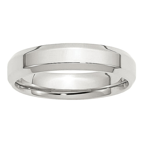 Personalized Womens 5MM Sterling Silver Wedding Band