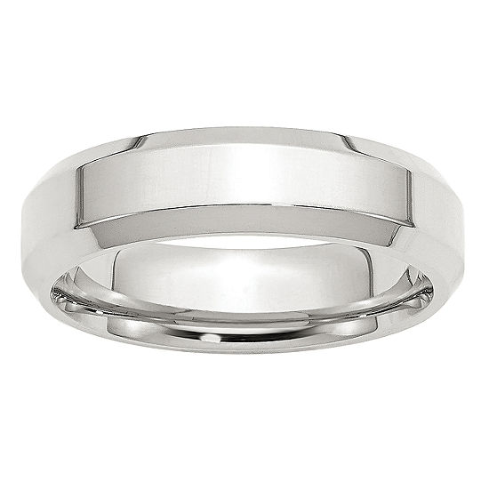 Personalized Womens 6MM Sterling Silver Wedding Band