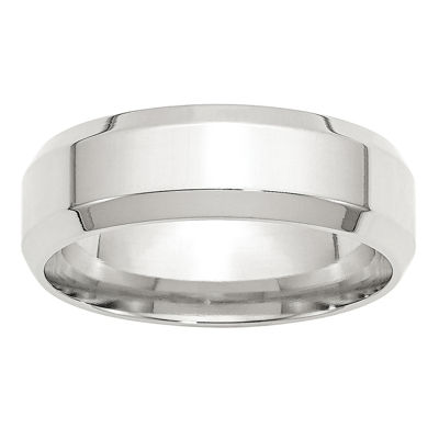 Personalized Mens 7mm Sterling Silver Band