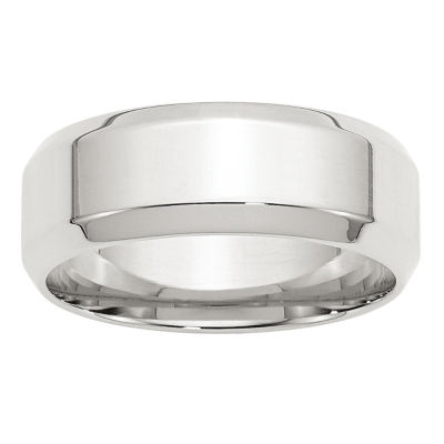 Personalized Womens 8mm Sterling Silver Band