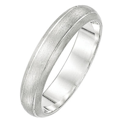 Womens 5MM Sterling Silver Wedding Band