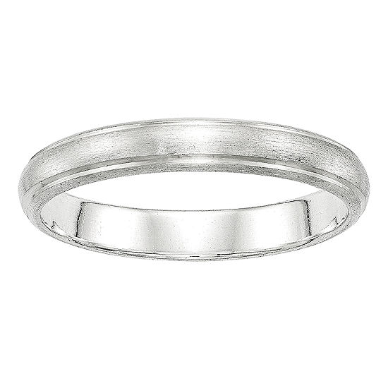Personalized Mens 4MM Sterling Silver Wedding Band