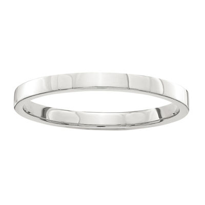 Womens 2mm Sterling Silver Band