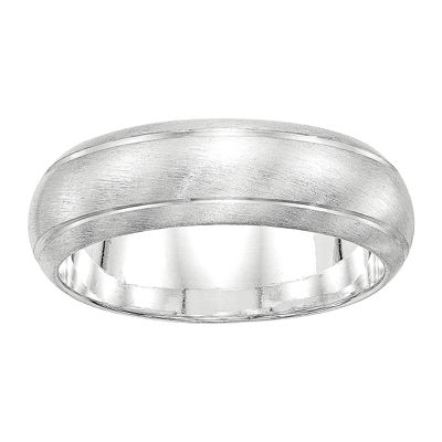 Personalized Womens 7MM Sterling Silver Wedding Band