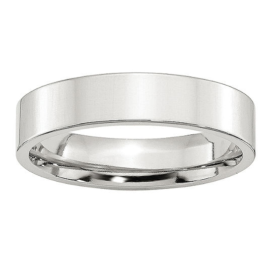Personalized Mens 5MM Sterling Silver Wedding Band